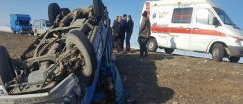 واژگونی وانت نیسان ۳ کشته و ۱۶ زخمی بر جای گذاشت